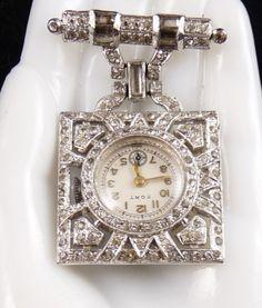 antique lapel watch nurse - Google Search