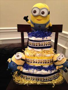 Despicable me minion diaper cake