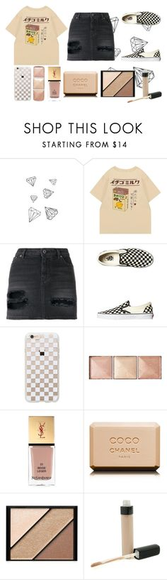 """""""im in love w the coco"""" by rebeccadugger on Polyvore featuring WALL, Givenchy, Vans, Rifle Paper Co, Hourglass Cosmetics, Yves Saint Laurent, Chanel and Elizabeth Arden"""