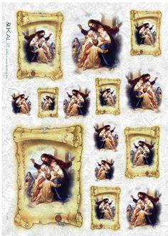 Papier ryżowy Kalit do decoupage spi0060 Obrazki z Jezusem Papier ryżowy - sklep DecoupageArt.pl