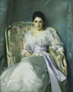 Lady Agnew of Lochnaw (1865 - 1932), John Singer Sargent, 1892.    It was exhibited at the Royal Academy in 1898 and made Sargent's name. The sculptor Rodin described him as 'the Van Dyck of our times'. Portrait commissions poured in and Sargent enjoyed something of a cult following in Edwardian society. It also launched Lady Agnew as a society beauty.