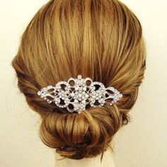 Victorian Pearl and Rhinestone Bridal Hair Comb, Wedding Bridal Comb, Vintage Style Wedding Hair Accessories, Crystal Hair Comb, BEATRICE. $68.00, via Etsy.