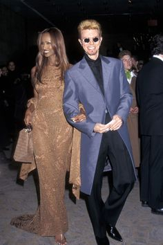 1997, attending the 16th Annual CFDA Awards Gala with Iman.