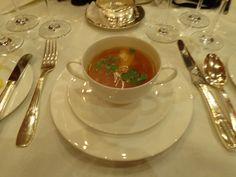 Duck broth with oriental aroma @ Restaurant Widder