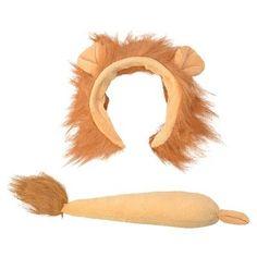 Children's Lion Ears & Tail Set - Childrens Orange Costume Headband And Fancy