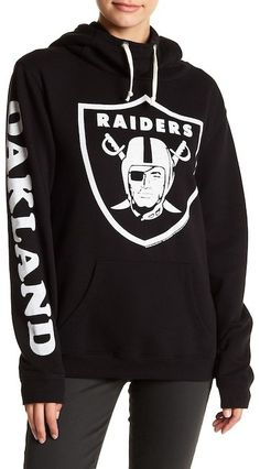 """$34.97 - JUNKFOOD Oakland Raiders Hoodie - This Oakland Raiders pullover hoodie offers a warm drawstring hood and bold team graphics. Machine wash 60% cotton, 40% polyester Drawstring hood Front graphic, single sleeve graphic Approx. 26 inches"""" length (size S) Imported"""