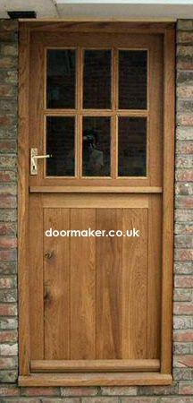 Stable Doors with 6 Panes made from Oak and Painted Cottage Front Doors, Cottage Door, House Doors, Oak Doors, Wooden Doors, Long House, External Doors, Dutch Door, Cottage Interiors