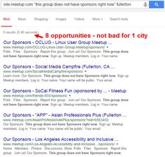Local SEO: The Lazy Man's Way to Find Meetup.com Local Link Opportunities (in 5 Seconds Or Less)