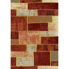 Luxury Home Metropolitan Brick Area Rug Rug Size: Runner 3' x 8'