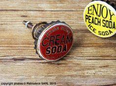 Patère Capsule Cream Soda, déco bistrot, Rétro Déco