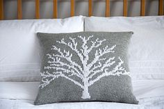 """""""Moontree"""" pillow knitting pattern - knit with worsted weight yarn"""