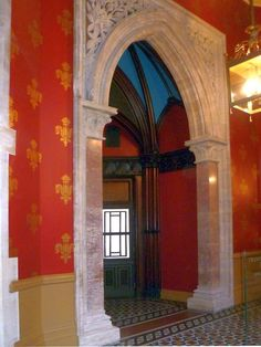 Interior of the Former Midland Grand Hotel, by Sir George Gilbert Scott. Arches: A Gallery Midland, Gallery, Victorian Door, Interior, Door Design, Hotel, Grand Hotel, Home Decor, Fireplace