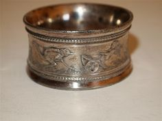 Silver Napkin Ring Victorian circa 1870 - 1880 Ostrich pulling Cherub Chariot  Aesthetic Movement by BELLASVINTAGECHIC on Etsy