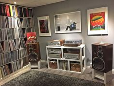 Audio Design - OboMusicLove : Photos - john brown - Best Picture For Audio Room a. Audi A, Audio Rack, Room Interior, Interior Design, Vinyl Record Storage, Audio Design, Up House, Hifi Audio, Room Setup
