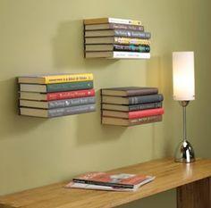 DIY College Apartment Ideas: Copperfield's shelves! (floating bookshelves)