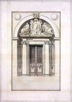 Competition design for a doorway, Paris