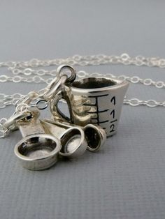 Bakers Charm Necklace Chefs Necklace by pinkingedgedesigns on Etsy, $28.00
