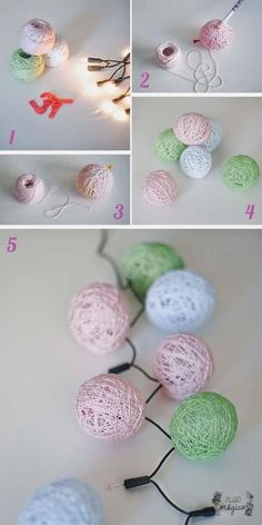 More than 10 ideas of super light crafts for Christmas - Christmas Crafts - Christmas . Home Crafts, Diy And Crafts, Crafts For Kids, Arts And Crafts, Kids Diy, Decor Crafts, Home Decor, Creation Deco, Light Crafts