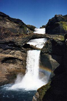 Lava bridge and Rainbows, Iceland