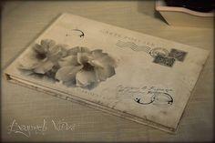 Carte Postale guestbook / wishbook - Gardenia - Vintage wedding stationery - Beyond Verve