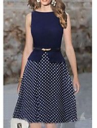 YUEMIAN™ Women's Sleeveless Slim Round Collar Polka Dots Dresses Save up to 80% Off at Light in the Box using coupon and Promo Codes.