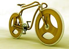 Bike on Industrial Design Served Wooden Bicycle, Wood Bike, Bike Style, Bike Art, Bike Frame, Cool Bicycles, Bicycle Design, Cycling Bikes, Made Of Wood
