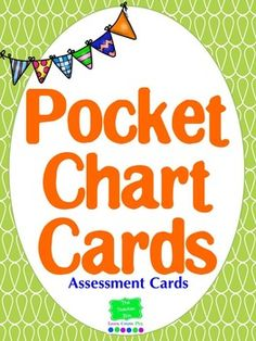 """Pocket Chart Assessment Cards I love this assessment!  It's a card and pocket chart assessment. I do it each morning and I can check understanding in the """"Blink of an Eye""""."""