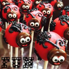 Lady Bug Cake Pops by Stick a Cake In It