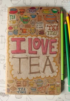 Love this journal! :: Kraft Moleskine with Hand Drawn Type and Doodles by Elizabeth Caldwell on Etsy.
