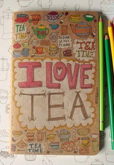 An 'I love tea' moleskine