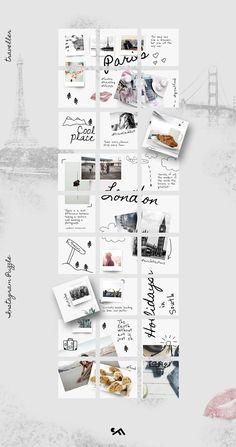ideas for travel logo inspiration awesome Instagram Design, Layout Do Instagram, Instagram Feed, Insta Layout, Graphisches Design, Layout Design, Graphic Design, Grid Design, Feed Vsco