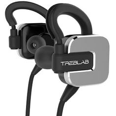 TREBLAB RF100 Bluetooth Headphones, Extreme Hi-fi Wireless Earbuds For Sports, Running and Travel. True HD Sound, aptX Enhanced Connectivity, Noise Cancelling, Best Built-in Microphone