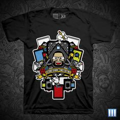 Various T-Shirt Designs by Lain Lee 3, via Behance