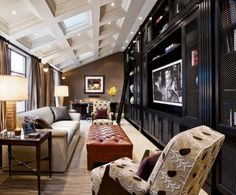 coffered ceiling on a slope
