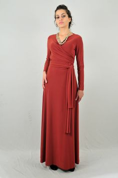 Rust infinity maxi dress. Worn as a wrap dress!