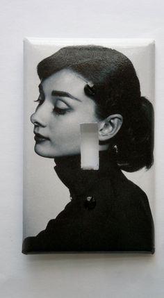Audrey Hepburn Decorative Light Switch Cover  Single by Nikalette