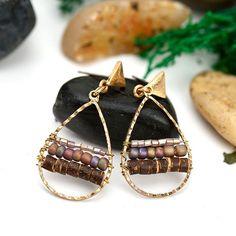 Teardrop Dangling Earring Natural Gemstone Post Earring | Etsy Wooden Earrings, Gemstone Earrings, Statement Earrings, Etsy Earrings, Dangle Earrings, Tribal Fashion, Fashion Earrings, Natural Gemstones, Jewelry Design