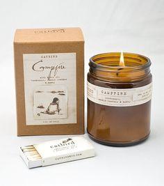 catbird campfire candle