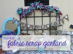 Make a fabric scrap garland