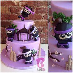 Baby Girl Ninja Baby Shower Cake!