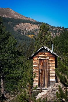 Colorado Rocky Mountain Outhouse  Photo Art by Julie Magers Soulen