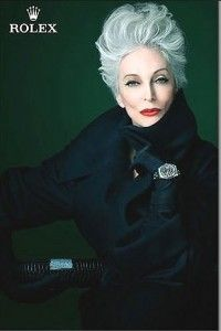 Hope I'm the old lady with spunky hair like this one day. : )