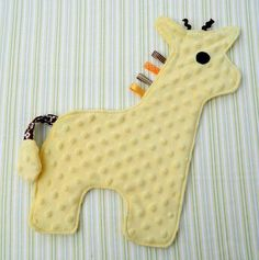 Yellow Baby Giraffe Snugglie ~ minky baby snugglies ~ sewingirl