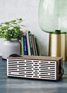 Retro style and powerful outputs in a wooden-finished Bluetooth enabled speaker Kreafunk have drawn inspiration from retro designs to bring you this exceptional Music Speakers, Diy Speakers, Bluetooth Speakers, Radios, Wooden Speakers, Charles Ray Eames, Bluetooth Gadgets, Speaker Amplifier, Speaker Design