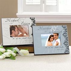This Wedding Frame is GORGEOUS! It comes in 6 colors so you can personalize it to match any room in your house ... such a beautiful way to remember the big day - as a wedding gift, or make one for yourself!