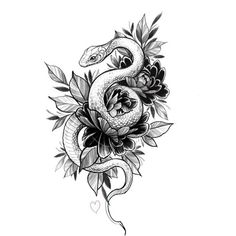 65 Ideas for tattoo snake drawing ink Neue Tattoos, Body Art Tattoos, Tattoo Drawings, Tattoo Sketches, Hand Tattoos, Sleeve Tattoos, Trendy Tattoos, Small Tattoos, Cool Tattoos