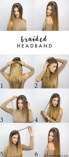 heatless hairstyle for back to school braided headband luxy hair
