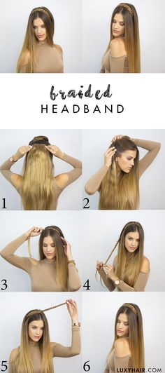 heatless hairstyle for back to school braided headband luxy hair