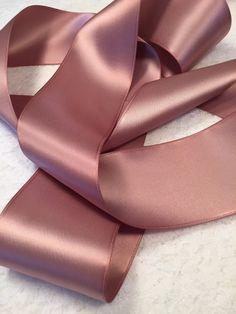 Pink Satin Ribbon/Dusty Rose Satin Ribbon/Mauve Satin