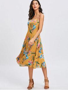Cami Strap Floral Print Dress